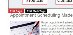 Content Maanagement System Edit Buttons